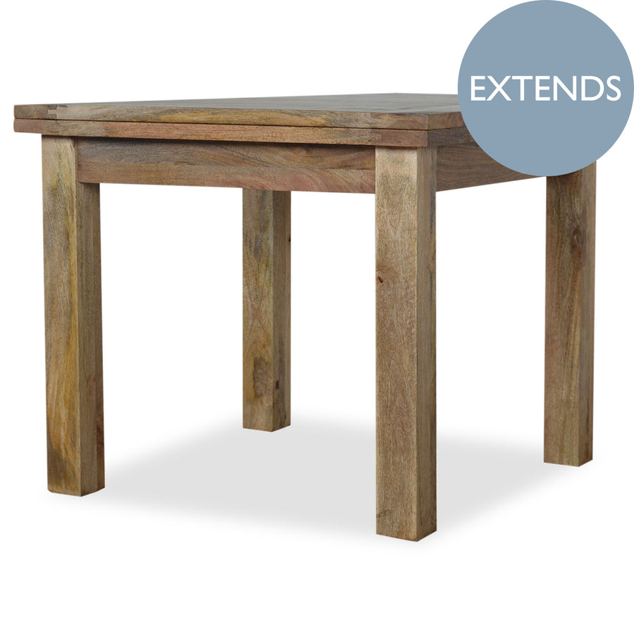 Extendable Solid Wood Kitchen Table