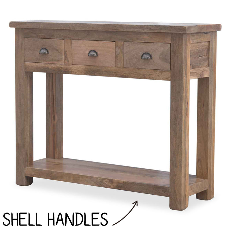 Handmade Mango Wood Console table with drawers