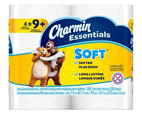 Charmin Essentials Toilet Paper - Giant Rolls 4 ct