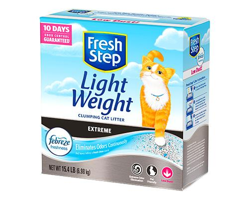 Fresh Step Light Weight Clumping Cat Litter-Febreze