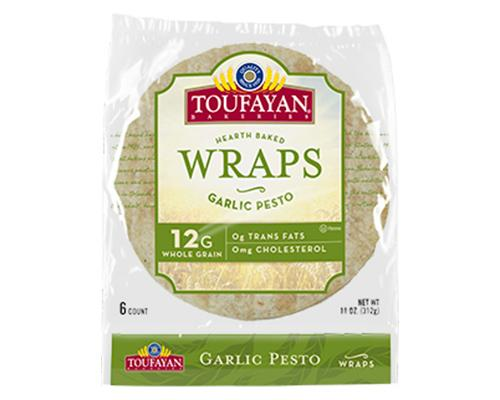 Toufayan Hearth Baked Wraps Garlic Pesto - 6 ct