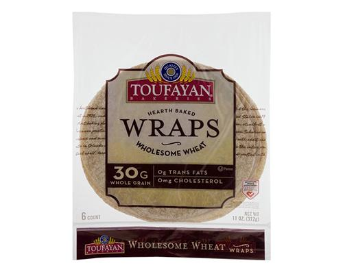 Toufayan Hearth Baked Wraps Wholesome Wheat - 6 ct