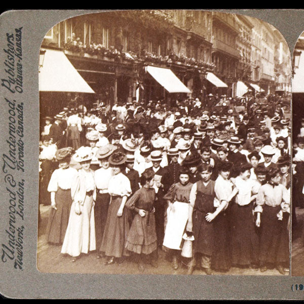 Girl employees of famous dressmaking shops of Paquin and Worth paris (1907)