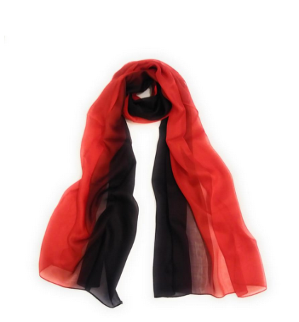 100% silk multiple color gradient scarf for only $22.99