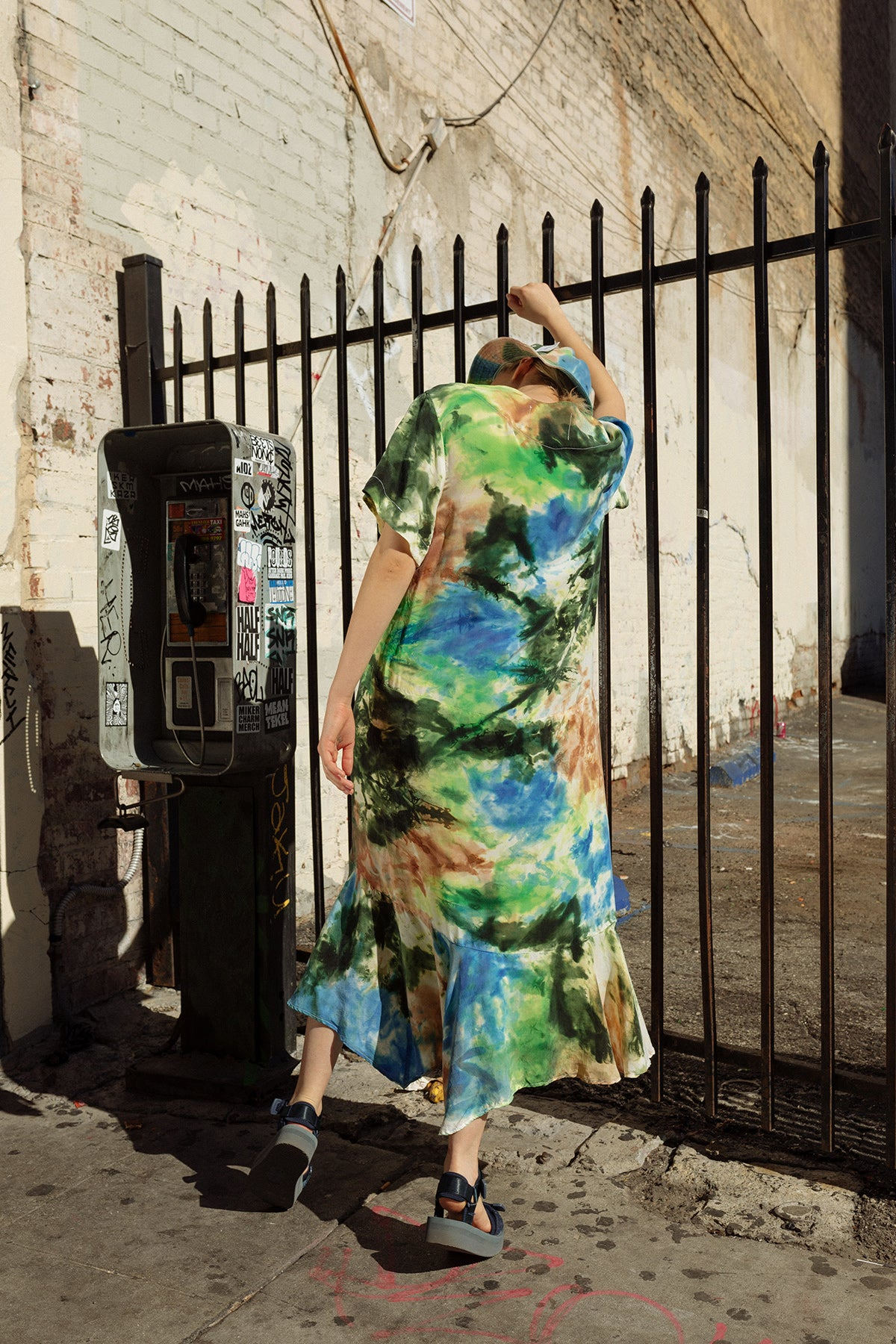 Clove Dress in Earth Tie-Dye