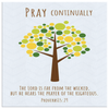 Scripture wall art, christian wall decor-Pray continually