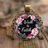 Bible necklace, faith necklace, Christmas gift for her-Walk by faith