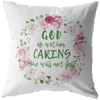 Bible pillow, faith pillow, Christmas gift for family-God is within caring, she will not fall.