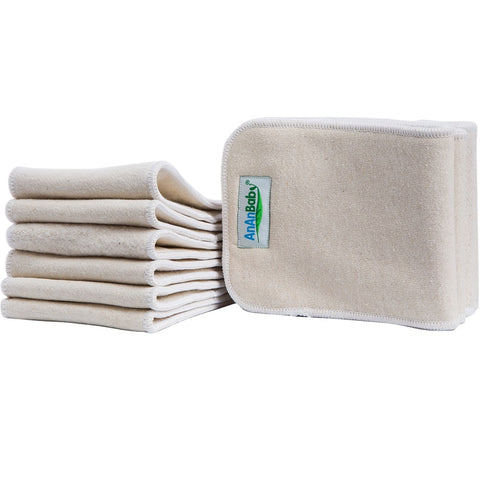 4-layer OSFM Hemp Insert - Chirpy Cheeks Nappy Store - cloth nappies, wetbags, mama pads, breast pads, swim nappies