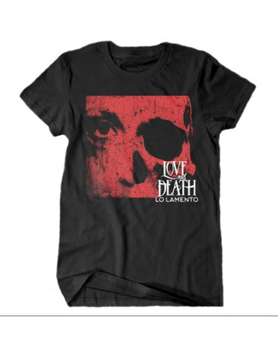 LOVE AND DEATH RED SKULL T-SHIRT
