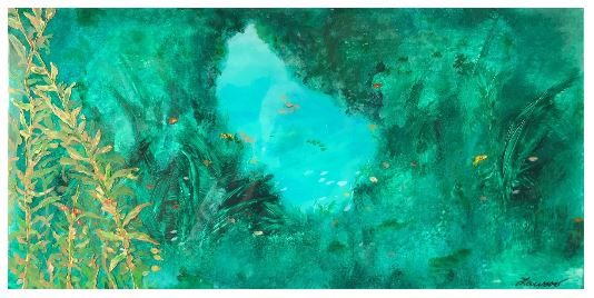 Grotto III mixed media painting by Lawson