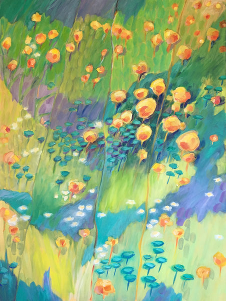 """In sweet fragrant meadows"" painting by Marcia Hoeck"