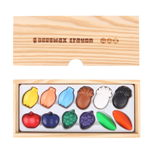 Beeswax Crayon- Colours Fruit- 12 Colours