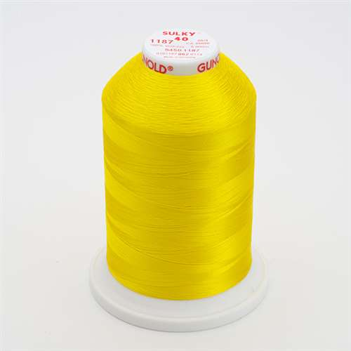 Sulky 40 wt 5500 Yard Rayon Thread - 940-1187 - Mimosa Yellow
