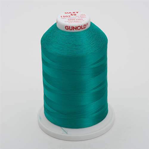 Sulky 40 wt 5500 Yard Rayon Thread - 940-1503 - Green Peacock