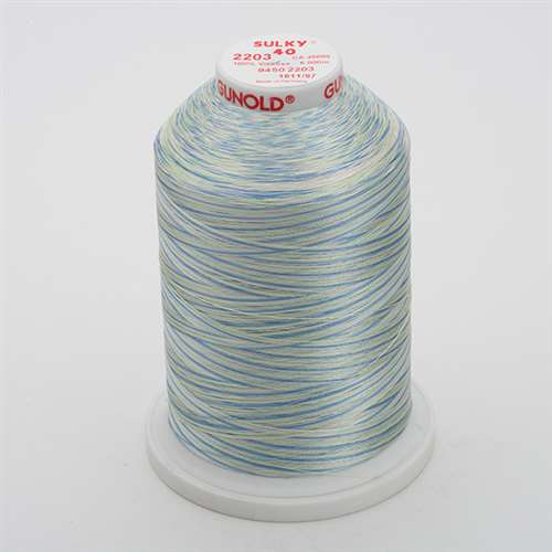 Sulky 40 wt 5500 Yard Rayon Thread - 940-2203 - Baby Pink/Mint/Blue