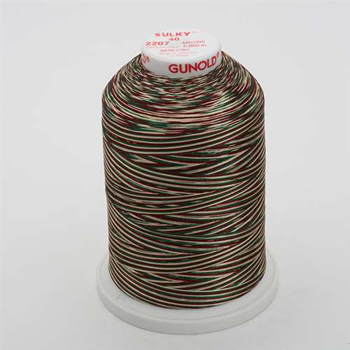 Sulky 40 wt 5500 Yard Rayon Thread - 940-2207 - Green/Burg/Tan