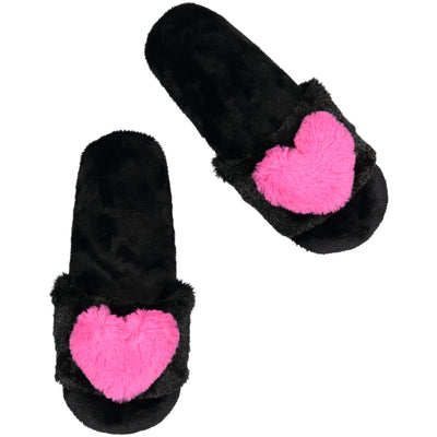 Women's Slide with Puff Heart