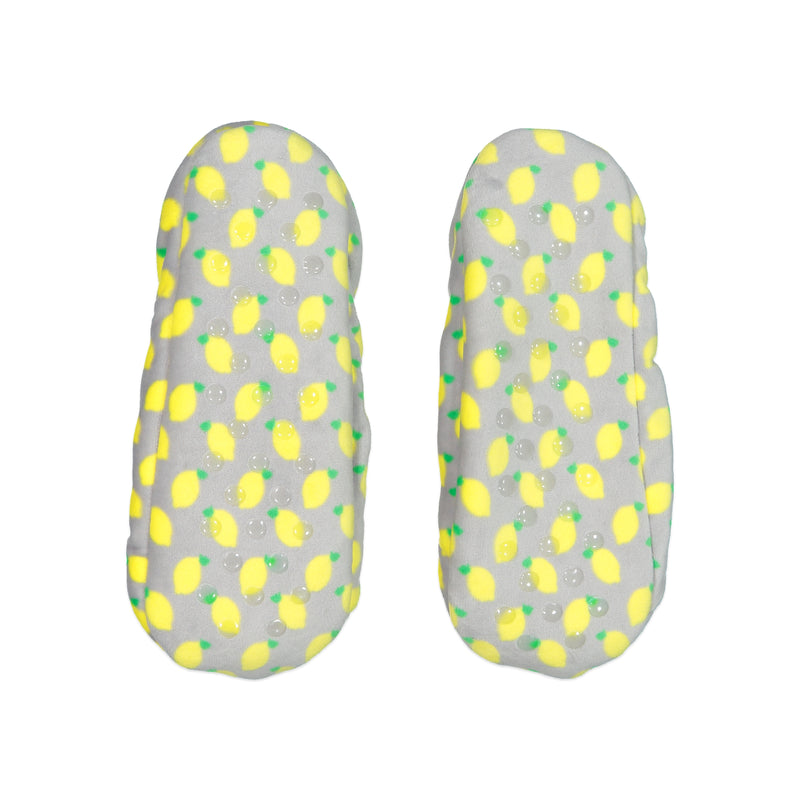 Women's Lightweight Slipper Sock with Lemon Print