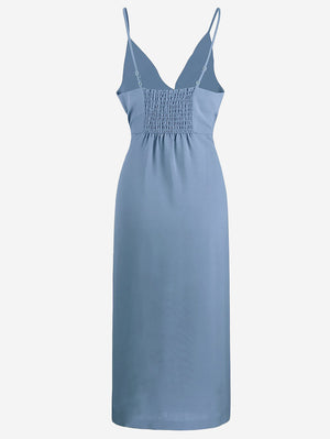 Button-Down Midi Dress In Light Blue - Mint Limit