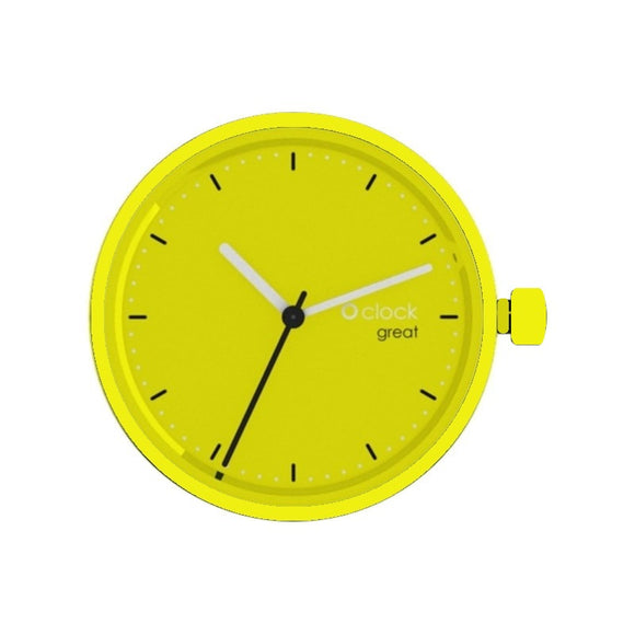 LIME - צבע ליים O CLOCK GREAT מנגנון לשעון יד
