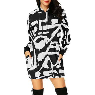 KENJO Women's All Over Print Hoodie Mini Dress - nistka + me