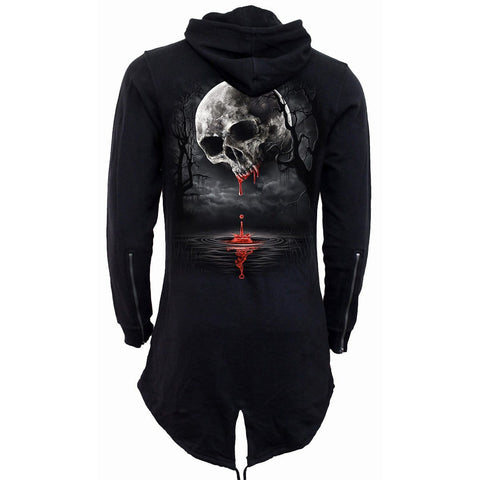 DEATH MOON - Ladies Fish Tail Full Zip Hoody - Zip Sleeve