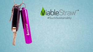 Reusable Straw keychain - ViableStraw intro - collapsible, telescopic, reusable straw