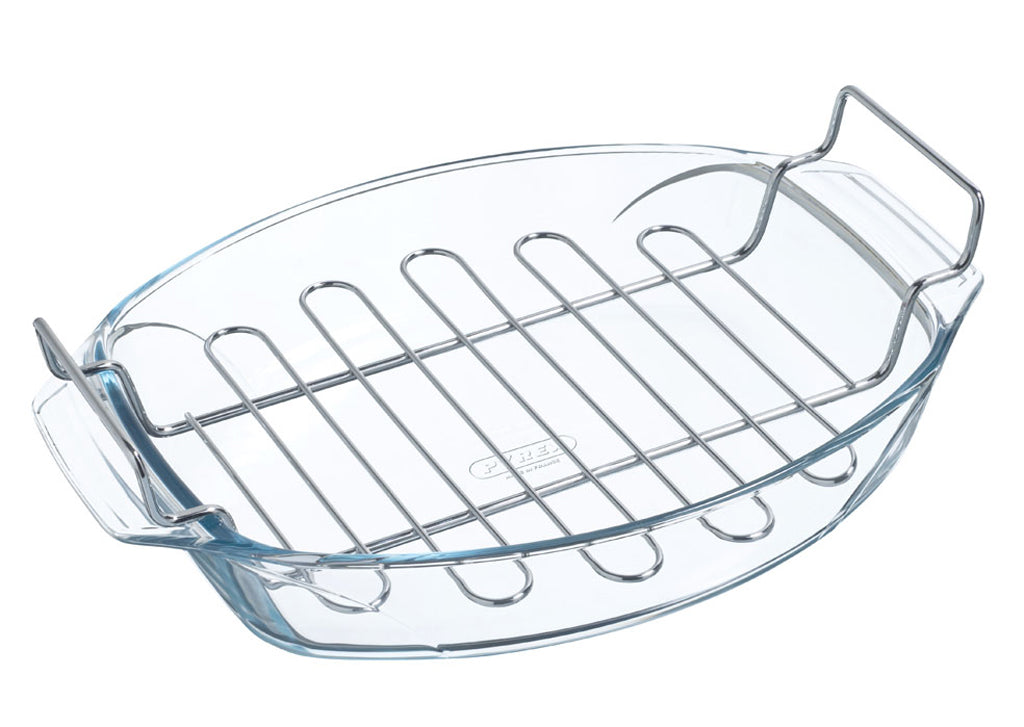 Irresistible oval roaster with rack 39x27cm