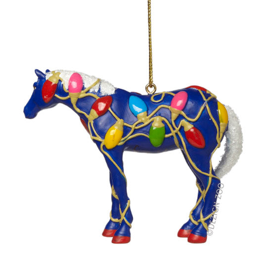 trail of painted ponies tangled christmas horse ornament view 2