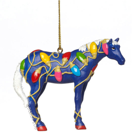 trail of painted ponies tangled christmas horse ornament