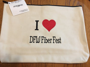 Project bag - I Love DFW F.F. Embroidered Bags