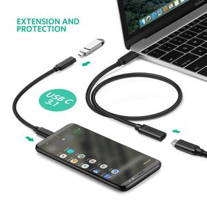 UGREEN USB C Extension Cable Type C Extender Cord Male to Female Compatible with Thunderbolt 3 Compatible for Nintendo Switch, MacBook Pro, Google Pixel 2 XL, Samsung Galaxy Note 8 S8 Plus - Ugreen