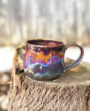 Load image into Gallery viewer, Aurora borealis N° 3- Drippy Purple Ceramic Mug 12 oz - Hsiaowan Studios Handmade Ceramics Pottery