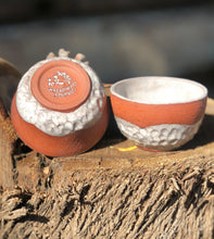 Load image into Gallery viewer, Set of 2 Sake Cups / Shot Glass / Espresso Cup / Chinese Tea cup - Hsiaowan Studios Handmade Ceramics Pottery