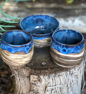 Seconds / Sample Sale : Planetary Series N°. 6  Marbled Clay Drippy glaze planter / pen holder - Hsiaowan Studios Handmade Ceramics Pottery