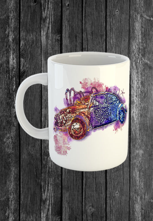 Mug VW Beetle Volkswagon Vdub | Mugs With Sayings, Personalised Gifts, Presents, Drinkware, Kitchen, Street Art