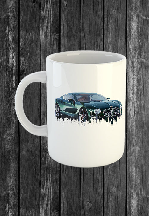 Exclusive Handmade Mug Bentley Continental | Mugs With Sayings, Personalised Gifts, Presents, Drinkware, Kitchen, Liquid Metal
