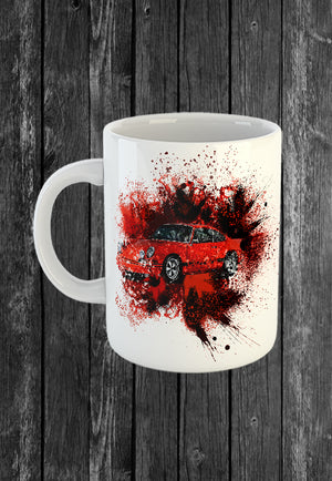 Exclusive Handmade Mug Porsche RS 911 | Mugs With Sayings, Personalised Gifts, Presents, Drinkware, Kitchen, Street Art