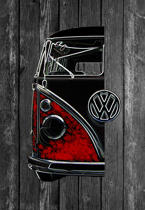VW Volkswagon Vdub Samba Camper Kombi Half Car | Tshirt, Tshirt Men, Tshirt Women, Custom T, Bespoke T-shirt, Apparel, Clothing
