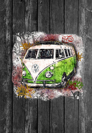 VW Mug Volkswagon Vdub Samba Camper Kombi Stree | Mugs With Sayings, Personalised Gifts, Presents, Drinkware, Kitchen, Street Art