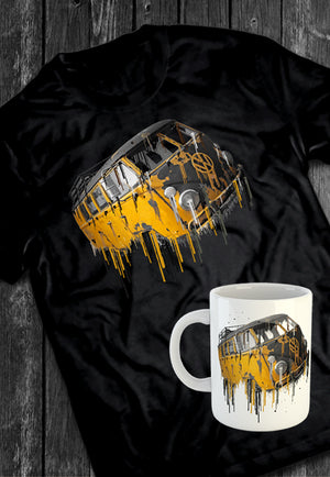 VW Volkswagon Vdub Samba Camper Kombi Liquid Metal Tshirt + Mug Bundle | Tshirt, Tshirt Men, Tshirt Women, Custom T, Bespoke T-shirt, Apparel, Clothing