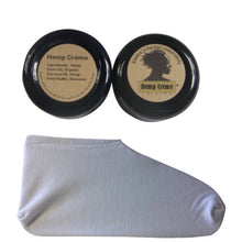 Load image into Gallery viewer, 2 Oz Hemp Creme and Cotton Moisturizing Socks - White. Great Holidays Gift!