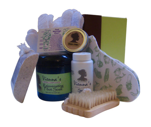 Aromatherapy 8-pc Foot Care Set in Gift Ready Box. Pamper for Beautiful Feet. Great Holidays Gift!