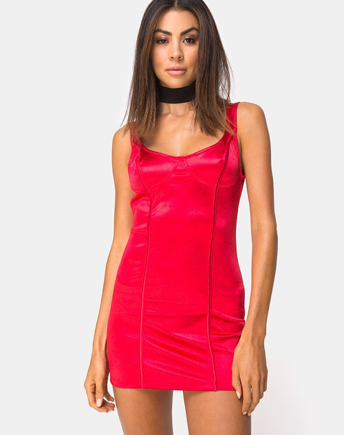 Atel Dress in Red by Motel