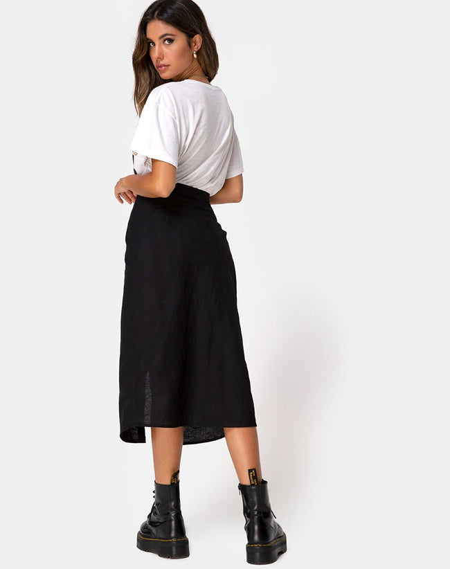 Kaisa Midi Skirt in Black by Motel