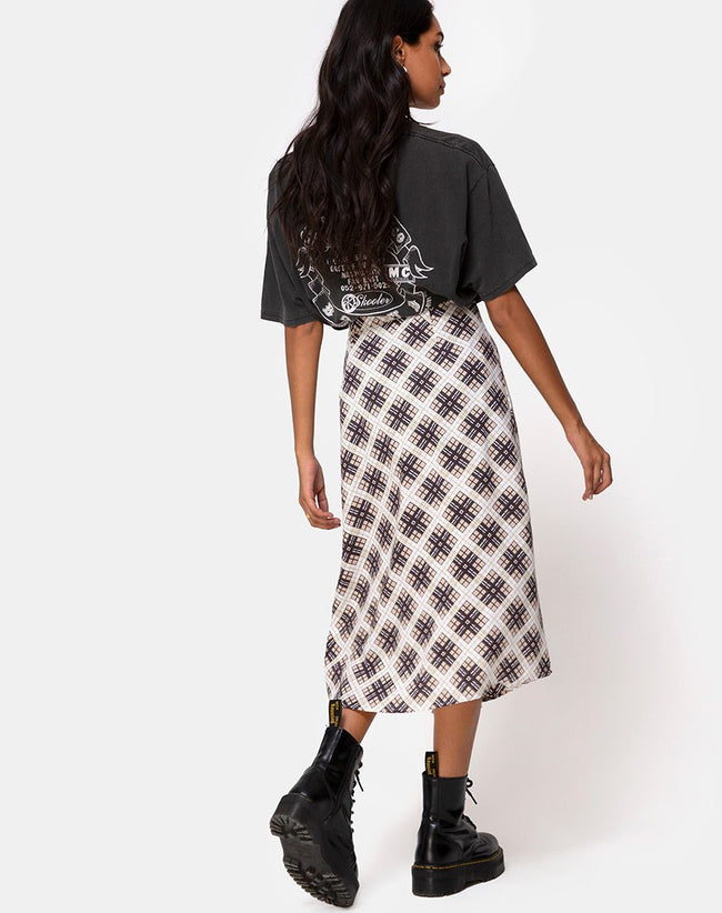 Saika Midi Skirt in Kate Check by Motel