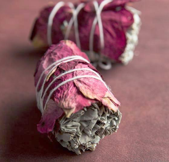 Rose and Sage Smudge Sticks