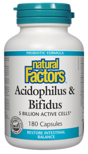 NATURAL FACTORS-ACIDOPHILUS & BIFIDUS DOUBLE PUISSANCE