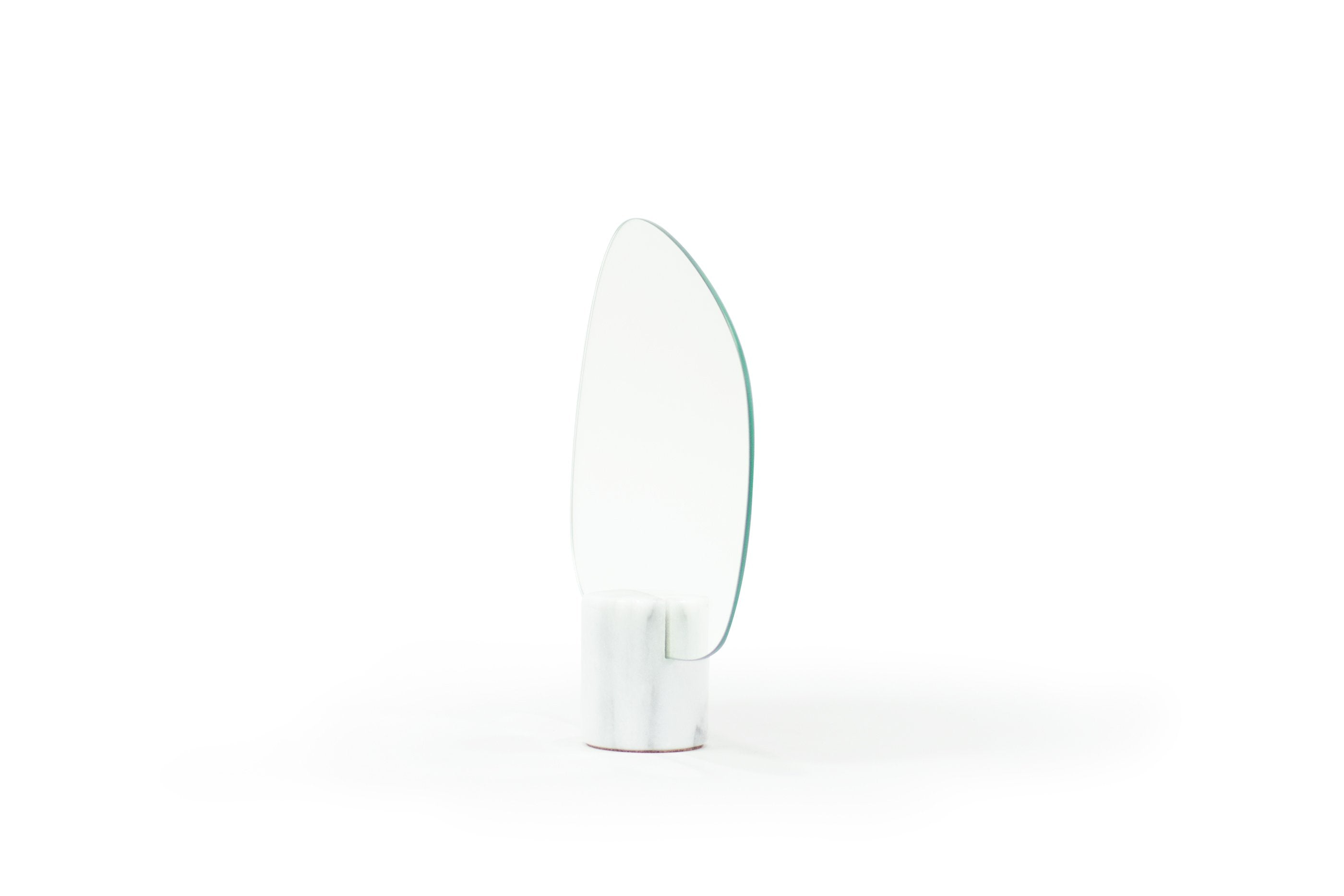 White Marble Mirror Forest (Wide)